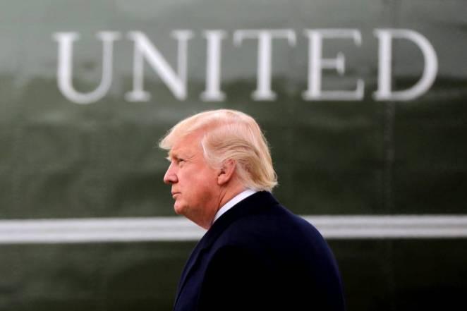 El presidente Trump este lunes en Washington.