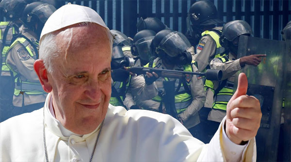 Bergoglio aúpa la represión